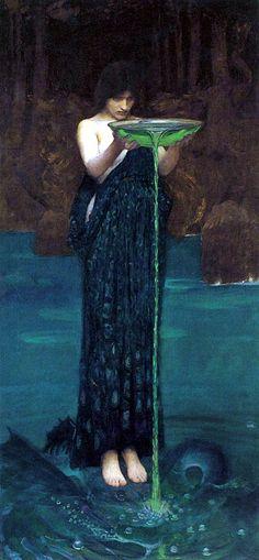 """Circe Invidiosa"", J. W. Waterhouse, 1892"