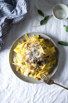 // sage roasted cauliflower and chickpea pasta