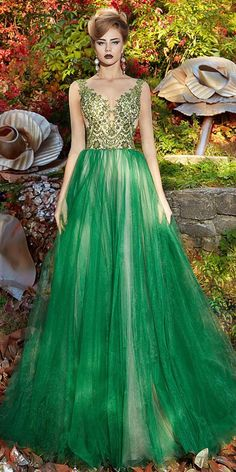 Luxurious Tulle Jewel Neckline A-line Prom Dress With Lace Appliques    Beadings 8c2c8d6a6