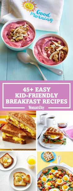 Try these kid-friendly breakfast recipes for the most important meal of the day. Start your kids morning off right before school with a delicious smoothie bowl or the adorable sunny-side up toast. Kids will be excited to wake up and eat before school with the breakfast puzzle egg sandwich.