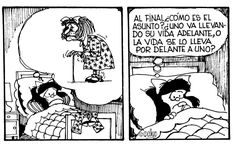 Mafalda preocupada