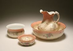 Image Detail for - Limoges porcelain bulbous pitcher and basin wash set | Antique Helper