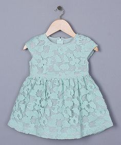 Another great find on #zulily! Mint Lace Dress - Infant, Toddler & Girls by Sweet Charlotte #zulilyfinds