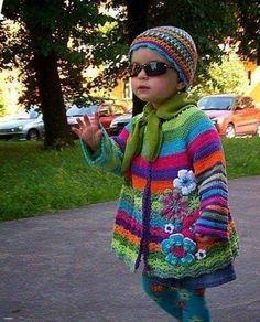 Mix Of Knitting And Crochet - - Diy Crafts Beau Crochet, Pull Crochet, Baby Girl Crochet, Hand Crochet, Knit Crochet, Crochet Slippers, Cardigan Au Crochet, Cardigan Bebe, Crochet Jacket