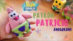 patricio/ patrick star amigurumi español/ingles - YouTube Patrick Star, Dinosaur Stuffed Animal, Messages, Stars, Birthday, Animals, Youtube, Campinas, Amigurumi