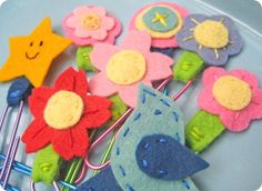 felt/paperclip bookmarks