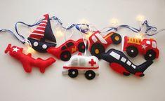 Boys room decor, boys fairy lights, transport nursery, ambulance, fire engine, boys birthday, girls birthday