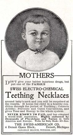 Swiss Electro-Chemical Teething Necklace.