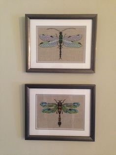 Nora Corbett - The Emerald Dragonfly, The Silver Dragonfly, Cross stitch