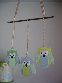 Paper owl mobile