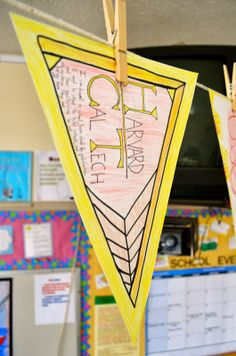 I love this pennant activity that I used with my students! It creates such a great collegiate environment in my classroom!