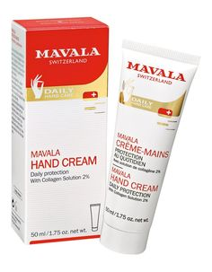 Mavala Hand Cream 50ml Daily care to moisturise and protect Mavala Hand Cream is specially formulated for dry, damaged hands and sensitive skin. Its composition blends marine collagen, very moisturizing, and allantoin wellk http://www.MightGet.com/january-2017-11/mavala-hand-cream-50ml.asp