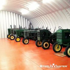 Need a place to protect your investments? Our steel #quonset huts are the perfect solutions for your storage needs. #quonsethut #farms #farming #farmer #tractor #johndeere #agriculture #tractor #tractorstorage #garage #shed #barn #farmlife #country #countryliving #aglife #steel #quonsetfarm #quonset #steelmaster #steel #diy #steelbuildings
