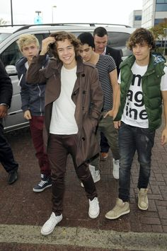 Styles (in front) with One Direction bandmates Niall Horan, Zayn Malik and Liam Payne in 2011.