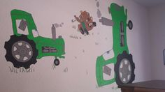 Disney cars mater tractor paint wall mural