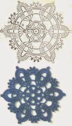 Best 12 No 34 starburst medallion lace crochet motifs – Page 726064771154292985 – SkillOfKing.Com Best 12 No 34 starburst medallion lace crochet motifs – Page 726064771154292985 – SkillOfKing. Crochet Motif Patterns, Crochet Diagram, Crochet Chart, Crochet Designs, Knitting Patterns, Crochet Snowflakes, Crochet Doilies, Crochet Flowers, Crochet Flower Squares