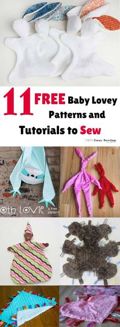11 FREE Baby Lovey Patterns and Tutorials to Sew
