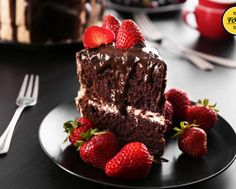 Chocolate Cake with Milky Filling