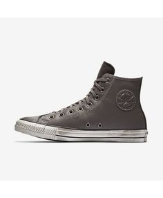 fc7ebfb46f8 Converse Chuck Taylor All Star Leather High Top Grey 158964C-020