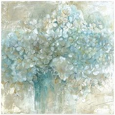 The floral image depicted in the magnificently large Hydrangeas Wall Art will fill your home with the simple, natural beauty of hydrangeas. Best of all, these lovely hydrangeas will stay in bloom all year round.