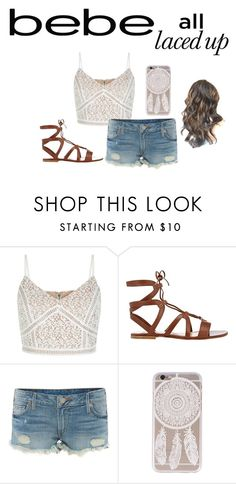 """""""All Laced Up for Spring with bebe: Contest Entry"""" by galaxy-taco on Polyvore featuring Bebe, Gianvito Rossi, True Religion and alllacedup"""