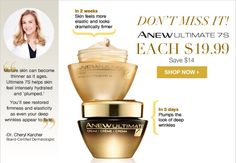 Don't Miss It! ANEW Ultimate 7s product, each only $19.99