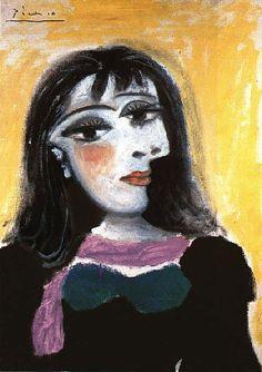 2000-lightyearsfromhome:  Portrait de Dora Maar, 1937Pablo Picasso
