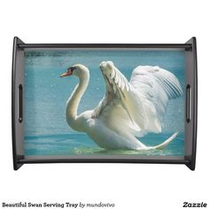 Beautiful Swan Serving Tray