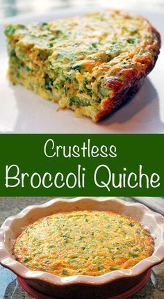 Quiche Delicious crustless broccoli quiche makes a quick meatless dinner. It's tasty, filling, low carb and gluten free!Delicious crustless broccoli quiche makes a quick meatless dinner. It's tasty, filling, low carb and gluten free! Healthy Food Blogs, Healthy Recipes, Low Carb Recipes, Vegetarian Recipes, Cooking Recipes, Free Recipes, Vegetarian Quiche, Cooking Corn, Cooking Games