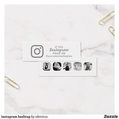 instagram hashtag mini business card