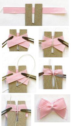 Ribbon Hair Bows, Diy Hair Bows, Diy Bow, Diy Ribbon, Ribbon Crafts, Fabric Hair Bows, Handmade Hair Bows, Diy Crafts, Pinwheel Bow