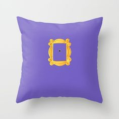 Friends Apartment Door Throw Pillow by Kimpressions - Cover x with pillow insert - Indoor Pillow Friends Tv Show, Cute Friends, Gifts For Friends, Best Friends, Purple Pillow Covers, Purple Pillows, Friends Merchandise, Bedroom Themes, Bedrooms