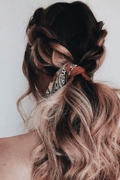 Beautiful beach waves and dutch braid on ombre hair. #hairgoals