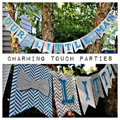 Boy First Birthday / Our Little Man Bowtie/Mustache Birthday Banner. Party Decor by Charming Touch Parties. Fully assembled/customizable. by CharmingTouchParties on Etsy https://www.etsy.com/listing/203710571/boy-first-birthday-our-little-man