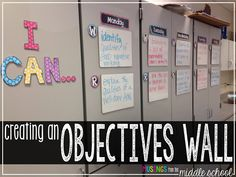 Musings from the Middle School: Creating an Objectives Wall