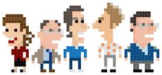 Iotacons - or pixel portraits of well-known folks