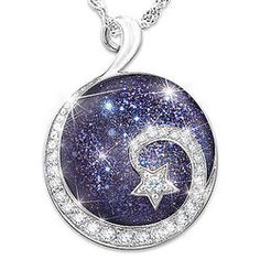 Daughter, Reach For the Stars Sterling Silver Cabochon Pendant