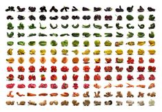rainbow of fruits and veggies print