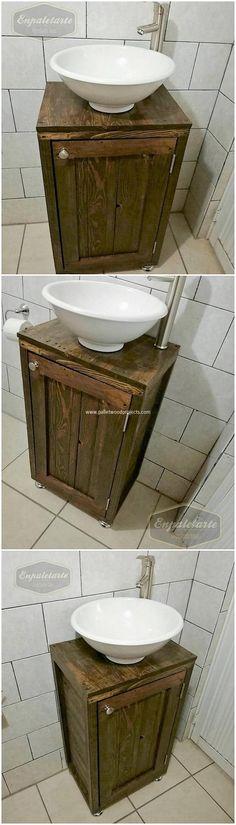 Pallet Bathroom Sink or Cabinet