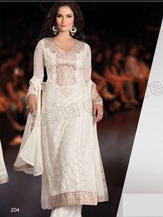 #Designer pakistani suits #Off white #Indian Wear #Desi Fashion #Natasha Couture #Indian Ethnic Wear # Salwar Kameez #Indian Suit