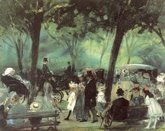 The Drive, Central Park (1905) by William James Glackens.