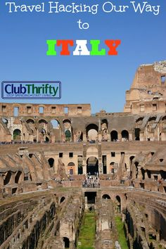 We love to travel and we're making our way around the world through travel hacking. This Fall, we'll be in Italy. See how we used travel hacking to do it!