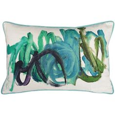 Love this idea!  I pinned this Kevin O'Brien Fingerpaint Pillow from the Zodiac event at Joss and Main!