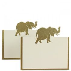 Gold Elephant Placecards