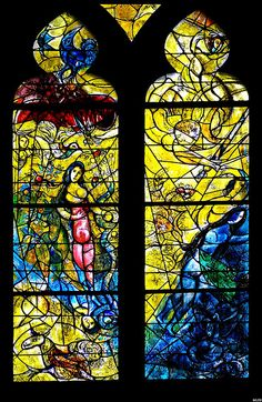 Stained glass of Marc Chagall at my favorite Cathedral, St Etienne, in Metz, France