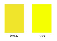 "Yellow - the ""warm"" yellow on the left makes  golden skin undertones glow."