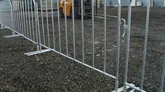 crowd control barrier flexible