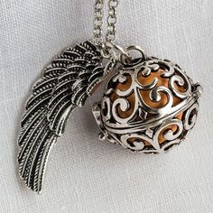 Angel Caller Protective Necklace With Angel Wing