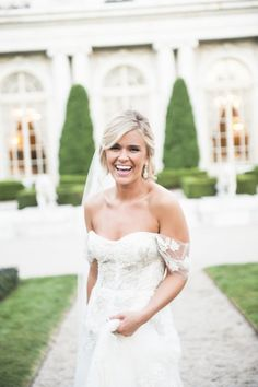 THE dress by Monique Lhuillier at Lindsey and Anthony's Rosecliff Wedding | The Newport Bride