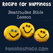Happy Faced Cookies Activity for Recipe for Happiness Beatitudes Sunday School lesson on www.daniellesplace.com